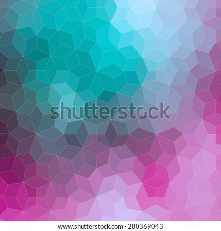 Ornamental 2D geometric colorful background for web - stock vector