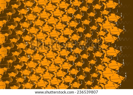 Ornamental fishes texture - stock vector