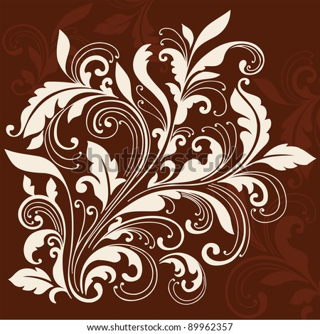 Ornamental Flourishes and Vines Swirly Silhouette Vector Illustration Design Elements - stock vector