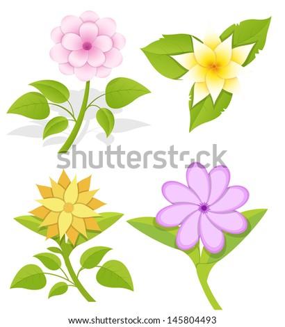 Ornamental Flowers Vectors - stock vector