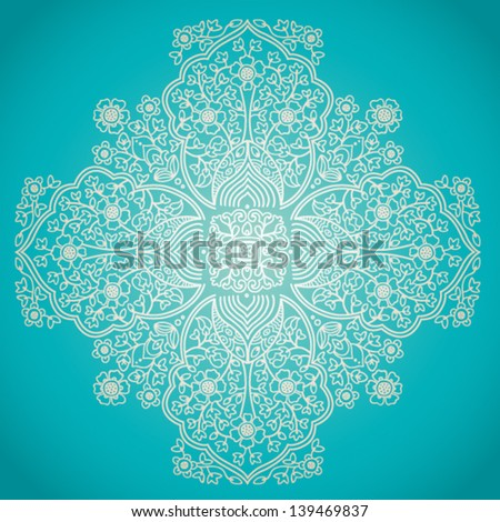 Ornamental lace pattern. Floral background with many details. It can be used for decorating of invitations, cards and decoration for bags. - stock vector