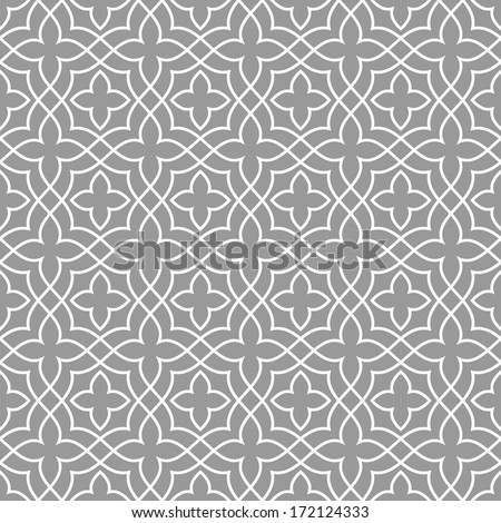 Ornamental pattern. Arabic seamless background.  - stock vector