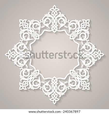 ornamental round lace, circle ornament abstract - stock vector