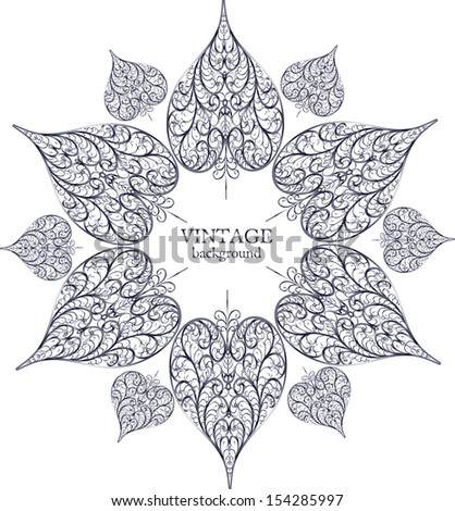 Ornamental round lace, circle ornament with place for your text - stock vector