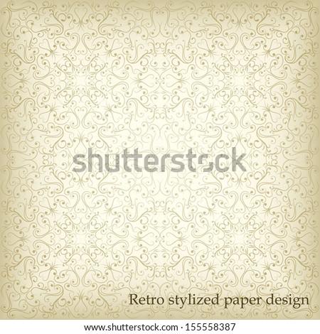 Ornamental seamless paper-designed texture  - stock vector
