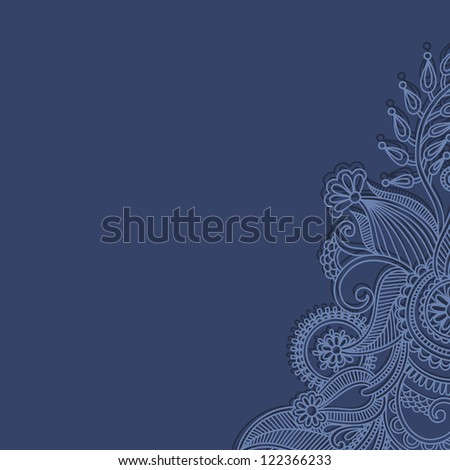 ornamental vintage floral background with decorative flowers for your design - stock vector