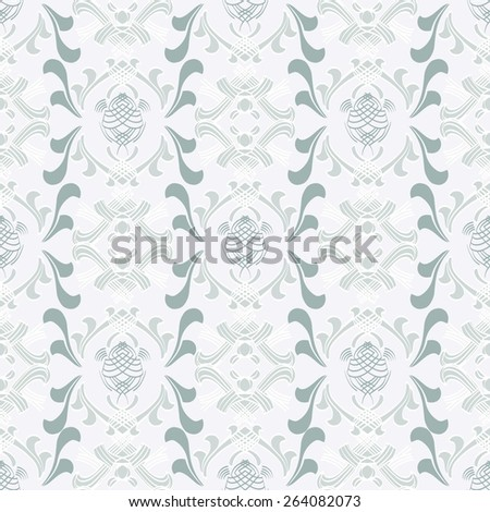 Ornamental wallpaper with seamless pattern - stock vector