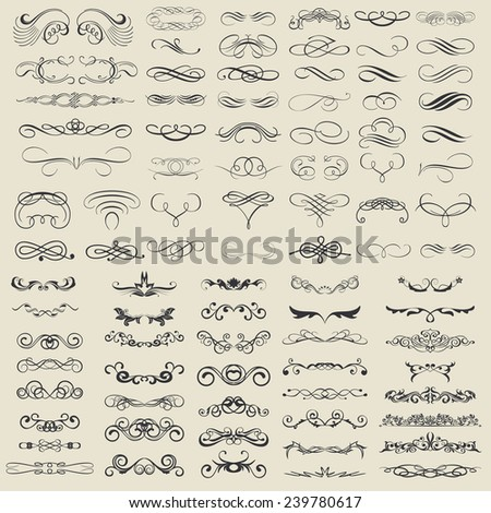 Ornaments and calligraphic decoration - stock vector