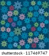 Ornate floral seamless texture, endless pattern with flowers. - stock vector