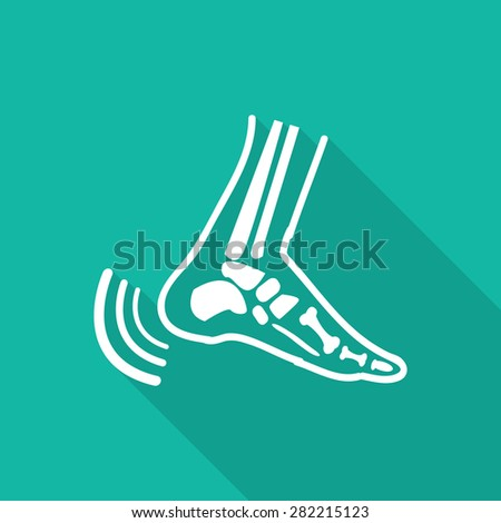 Orthopedic  symbol icon with long shadow. - stock vector