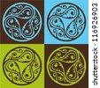ottoman pattern - stock vector