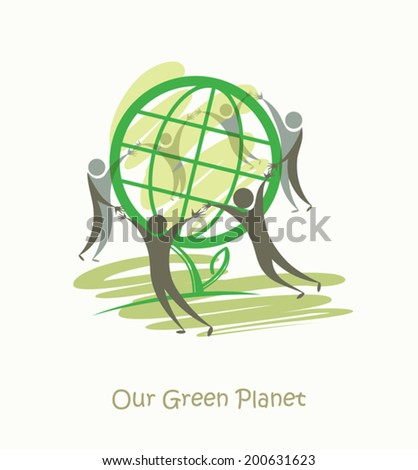 Our Green Planet. - stock vector