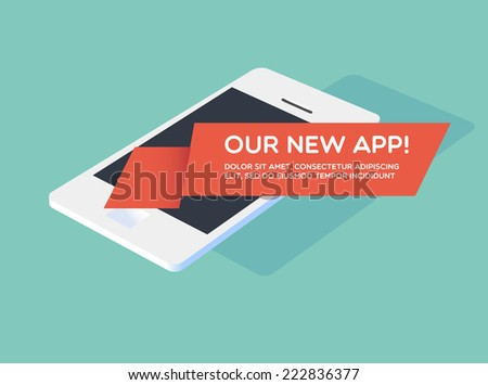 Our new app! - stock vector