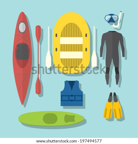 Outdoor activities elements - stock vector
