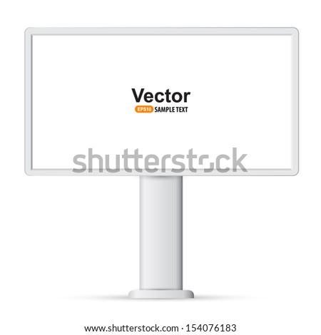 Outdoor advertising constructions. Billboard  - stock vector