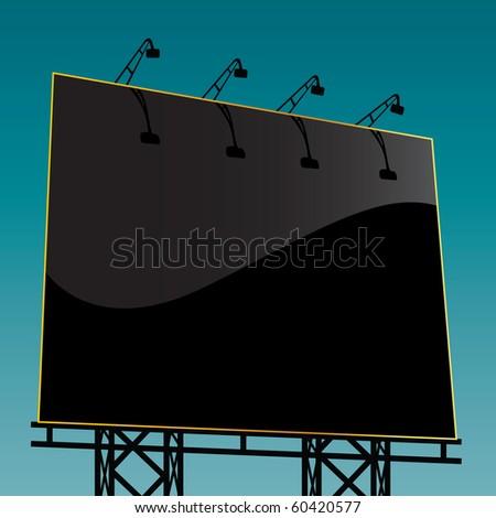 outdoor billboard - stock vector