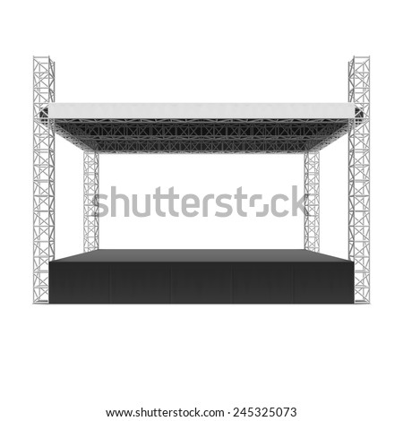 Outdoor concert stage, truss system. Vector. - stock vector