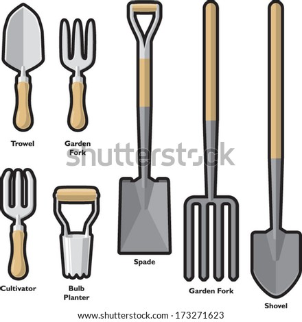 Garden trowel stock photos images pictures shutterstock for Garden hand tools names