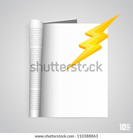 outdoor magazine with lightning - stock vector
