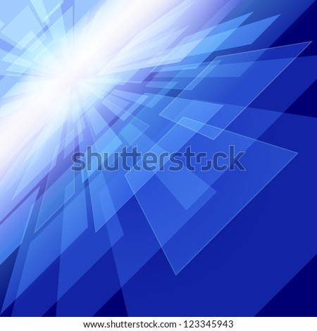 Outer space perspective. EPS10 vector illustration divided by layers. - stock vector