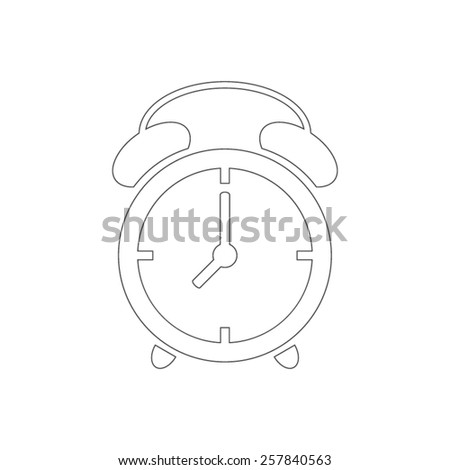 Outline alarm clock icon - stock vector