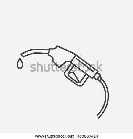 Outline icon of filling gun. Outline icon of gas station. Gas station illustration. Contour icon of filling gun. icon of oil industry. Outline oil icon.  - stock vector