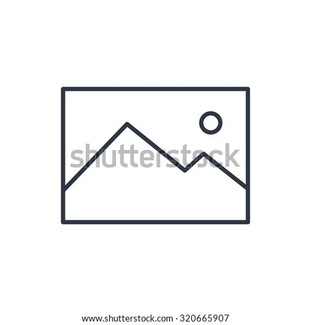 outline icon of image photo - stock vector