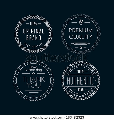 Outline labels - stock vector