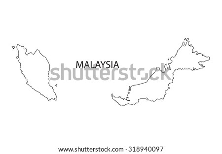 Stock Images similar to ID 446721988 map malaysia