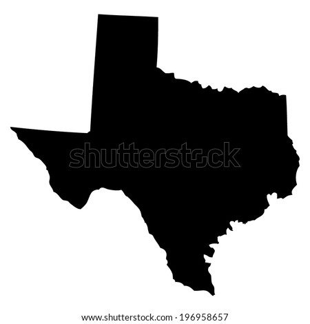 Outline of the State of Texas - stock vector