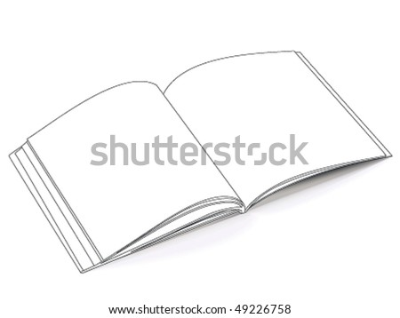 Outlined catalog - stock vector