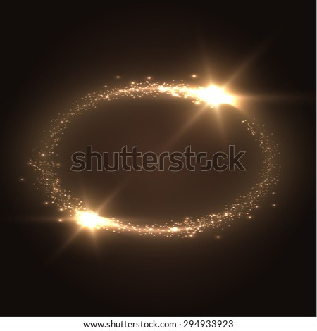 Oval shiny frame background. Technology background. Vector eps10. - stock vector