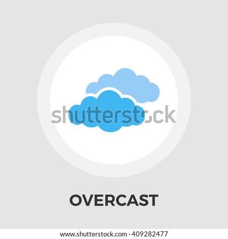 Overcast icon vector.  - stock vector