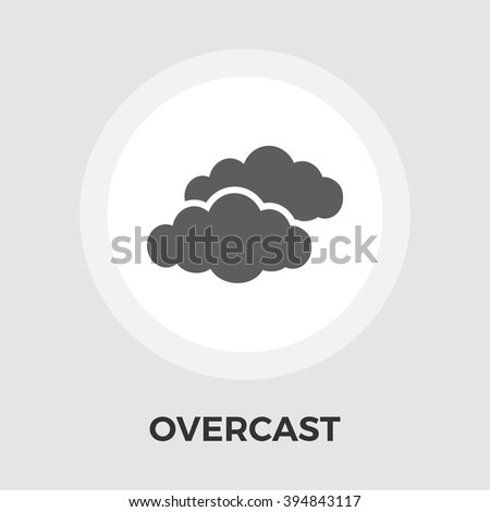 Overcast icon vector. Flat icon isolated on the white background. Editable EPS file. Vector illustration. - stock vector