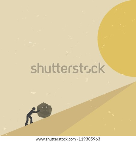 Overcome obstacles, and great zeal - stock vector
