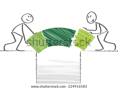 Overcoming Life's Obstacles Together - stock vector