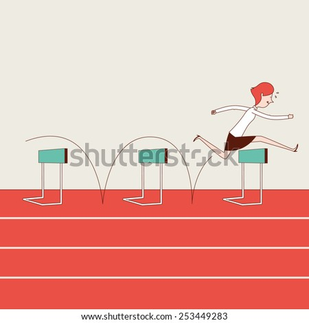 Overcoming Obstacles - stock vector