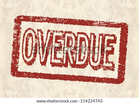 Overdue rubber stamp - stock vector