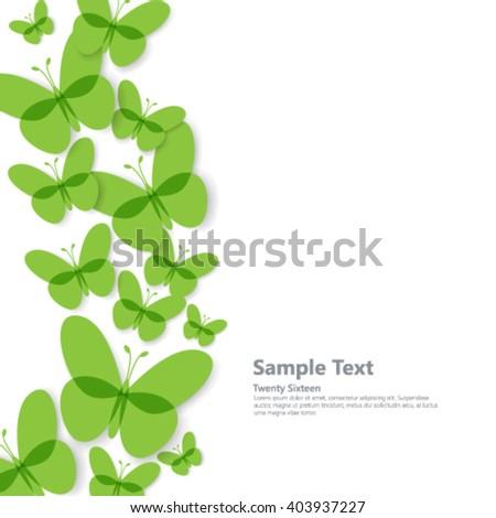 Overlapping Butterflies Clean Design Background - stock vector