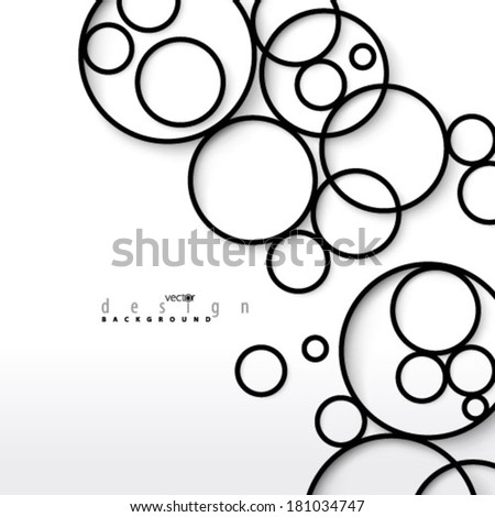 Overlapping Circles Background - stock vector