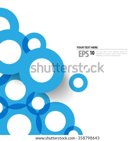 Overlapping Circles Modern Design Background - stock vector