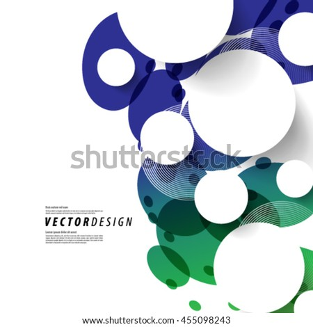 Overlapping Circles Modern Layout/Design Cover Background - stock vector