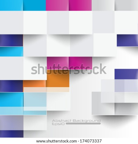 Overlapping folded colorful background - eps10 - stock vector