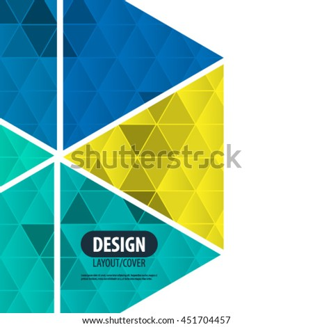 Overlapping Geometric Triangles Design/Layout Background - stock vector