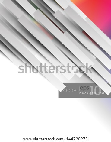 Overlapping Lines Concept Background - stock vector