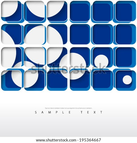 Overlapping Squares and Circles Background - stock vector