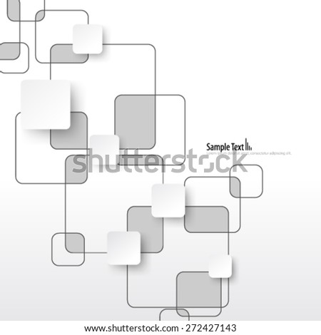 Overlapping Squares Clean Design Background - stock vector