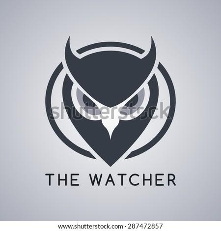 owl template - stock vector
