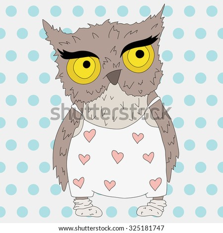Owl, vector object for your any project - stock vector