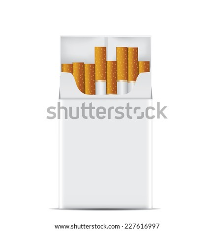 Pack of cigarettes. - stock vector